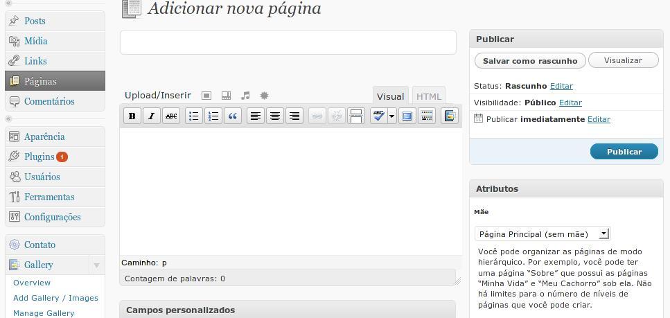 adicionar-nova-pagina-wordpress