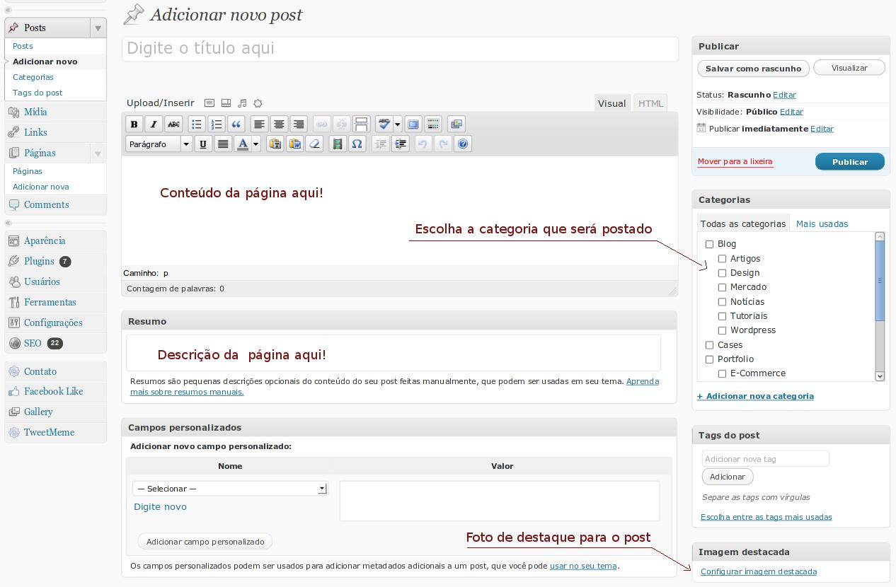 adicionar-novo-post-wordpress